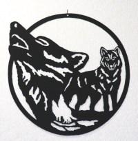 Wolf Pack Silhouette Wall Art Metal Art Home Decor
