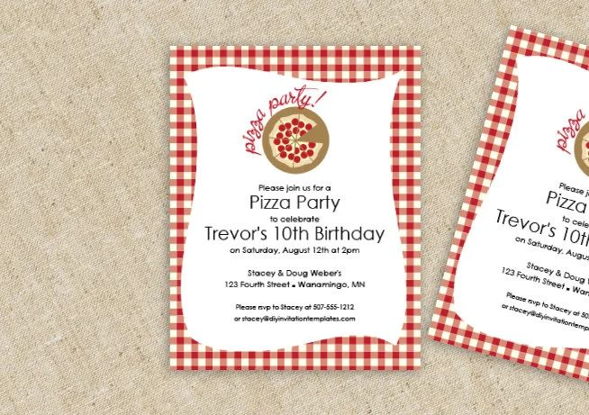 pizza party invitation template word