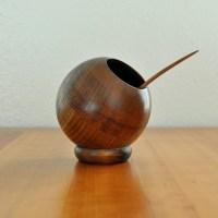 mid century wooden orb bowl with spoon by thecreekhouse on ...