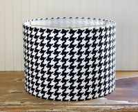 Drum Lamp Shade Lampshade Pendant Black and White Houndstooth