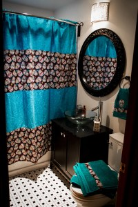 NEW custom bathroom decor Shower curtain bath towels hand