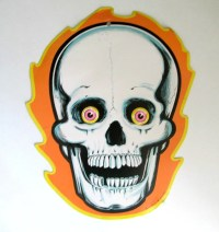 Vintage 1986 Beistle Skeleton Halloween Cardboard Die Cut