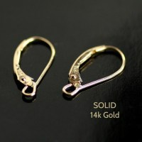 SOLID 14K Gold Leverback Earring Findings 22 Gauge by ...