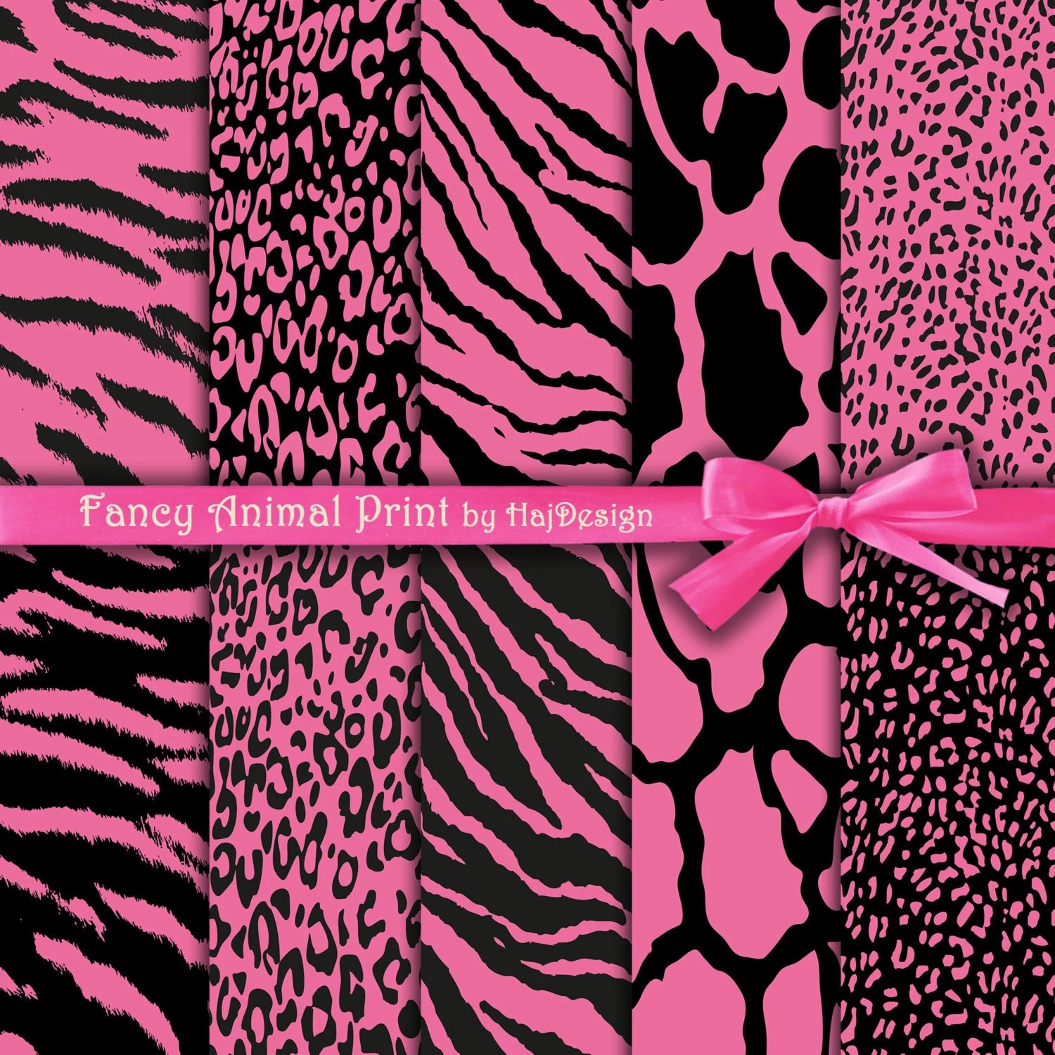 Animal Print Wallpaper Border Animal Print Digital Paper Fancy Animal Print