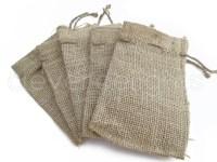 10 4x6 Small Burlap Bags Natural Rustic Burlap Bags with