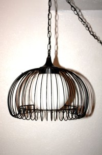 Antique/ Vintage Hanging Swag Light Metal by QUEENIESECLECTIC