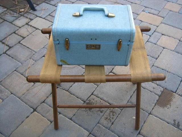 Reserved Vintage Folding Wood Luggage Rack By