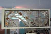 Vintage Seaglass And Driftwood Window Frame Art