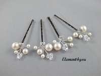 Ivory Pearl Clip Bridal Hair Pins Wedding Hair Accessories