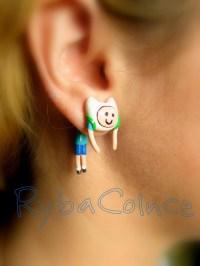 Fake ear gauge Faux gauge/Gauge earrings/ plug/ fake piercin