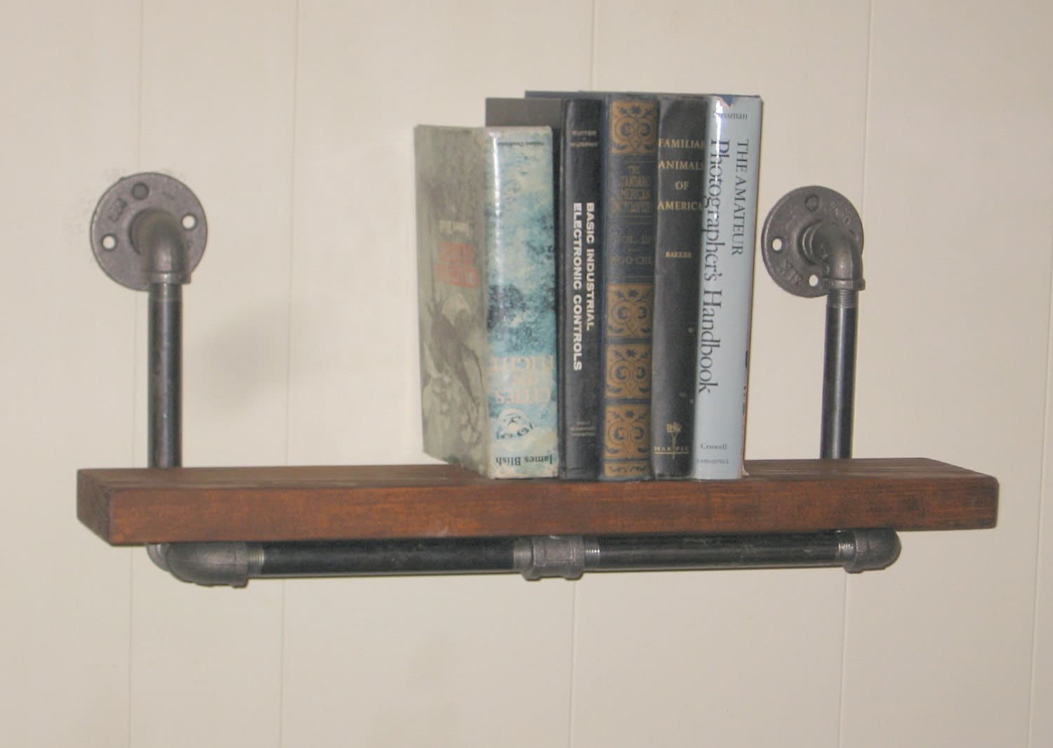 Steampunk Wall Shelves Original Handmade Industrial Machine Age Steampunk Wood And