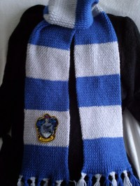Harry Potter Ravenclaw knit scarf with crest patch by ...