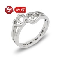 Promise Ring Double Hearts My Heart Next to Yours Best by ...