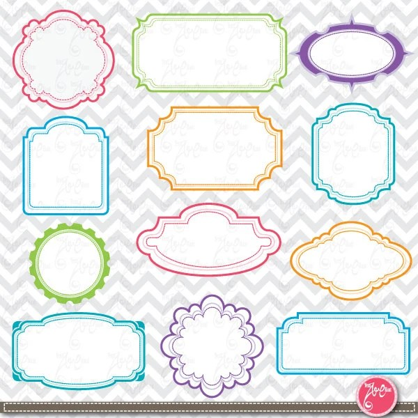 Frame Designs ,Digital frame,Frame Clip Art Elements, perfect for - frame for cards
