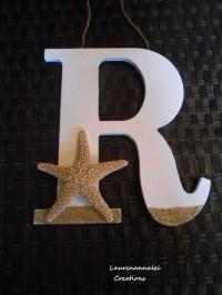 Starfish Wooden Letter Starfish Decor Beach House Decor