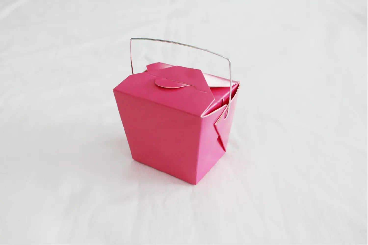 25 Small Hot Pink Chinese Take Out Boxes For Party Favors Or