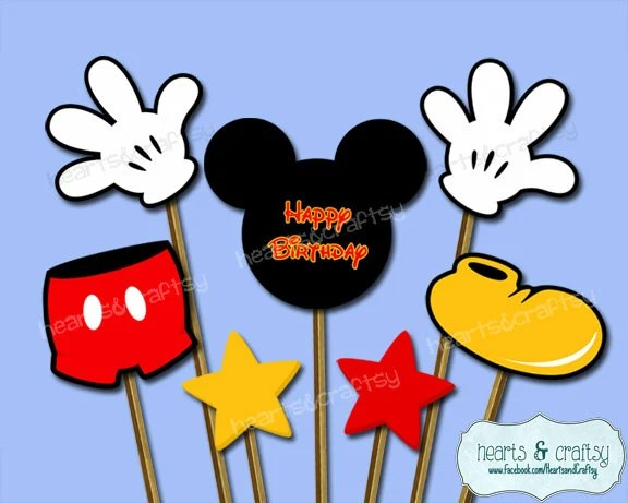 Mickey Mouse Centerpiece Cutouts / Mickey Mouse Party Cake Topper