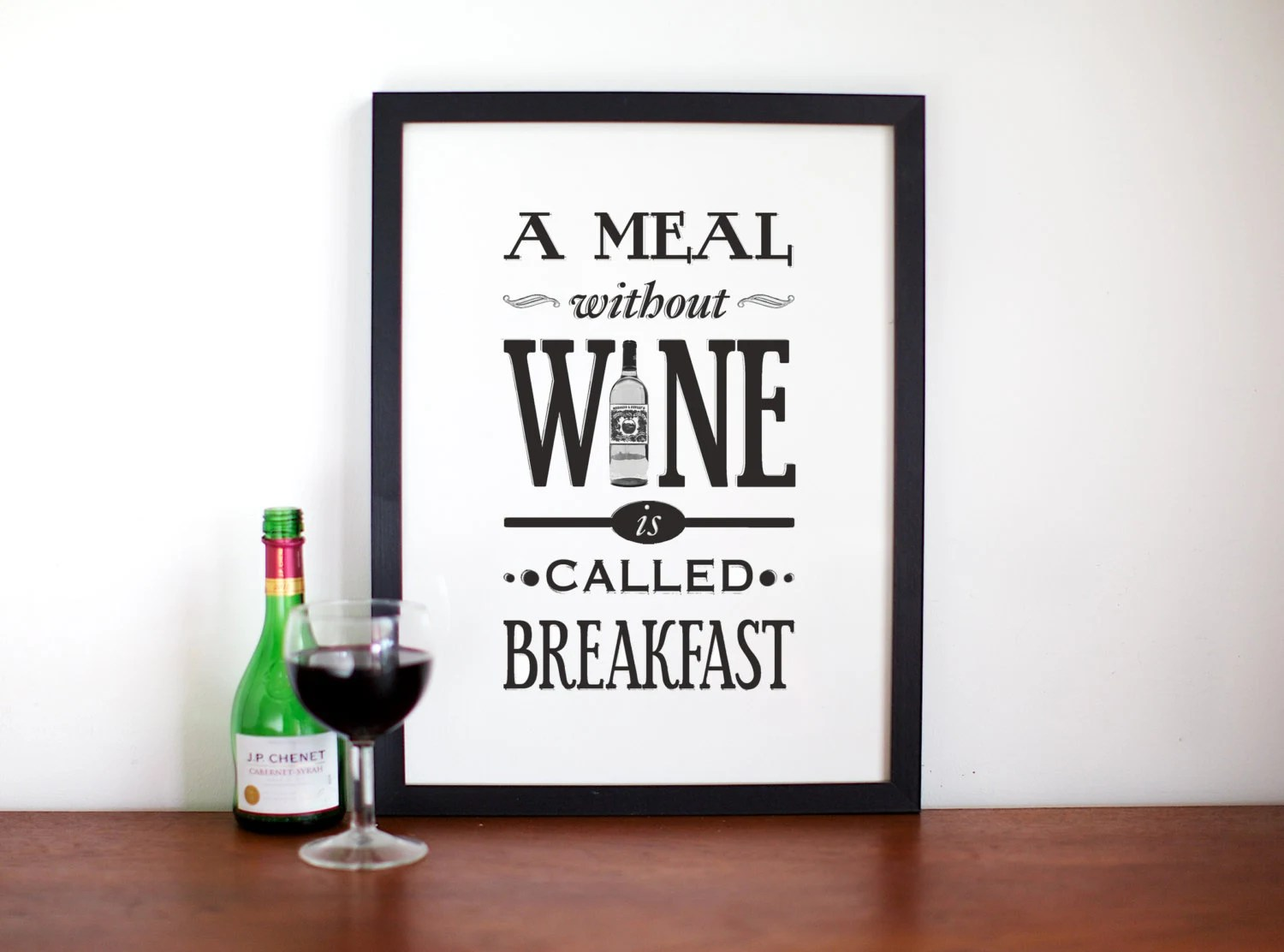 Küche Magazin Logo Wine Poster A Meal Without Wine Kitchen Art Wine Print