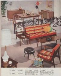 Mid-Century Modern Atomic Housewares Furniture Family Stamp