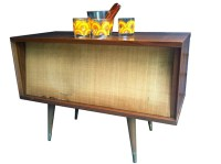 Mid Century Speaker Cabinet / Side Table by MarzMum on Etsy
