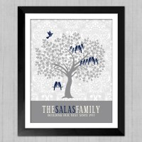 Personalized Family Tree Custom Wall Art Christmas Gift for