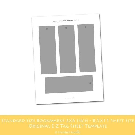 Standard Bookmark Size Template 28 printable bookmark template