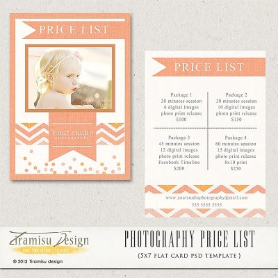 Photography Price List Photography Pricing Guide Price