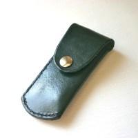 Pocket Knife Holder. Green Leather pocket knife by ...