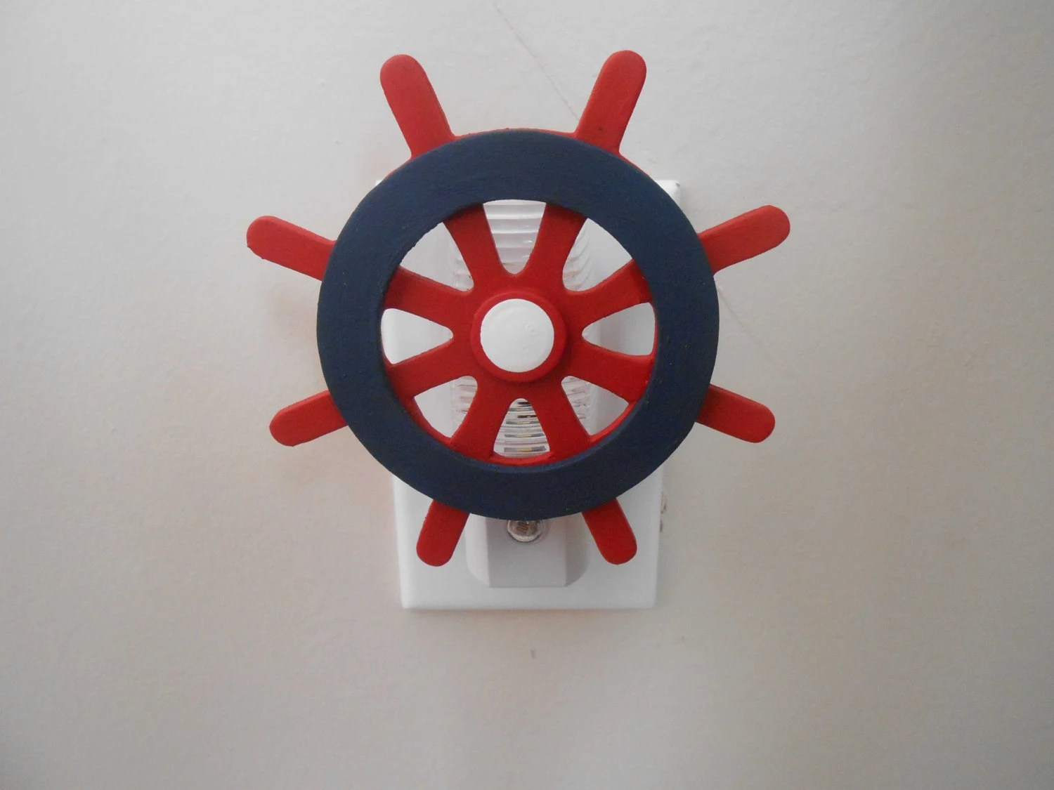 Red Night Light For Nursery Nautical Light Boat Wheel Night Light Night Light