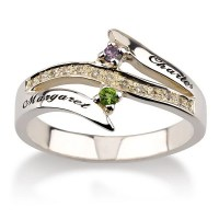 Personalized Promise Ring Couples Birthstone by MyPersonalized
