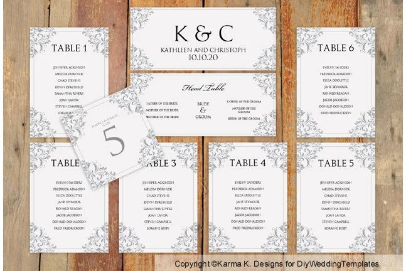 seating chart template wedding