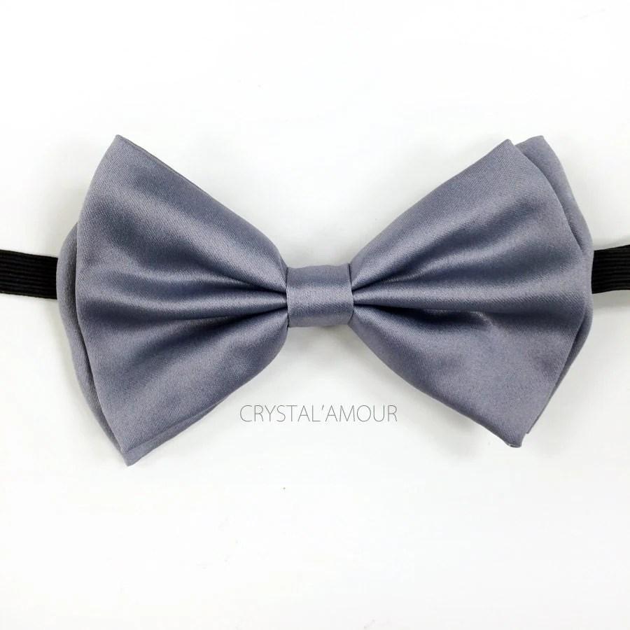 Gray Bow Tie Grey Tuxedo Bow Tie Adjustable Bow Ties for