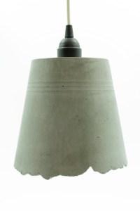 Concrete Pendant Lamp Blue Interior