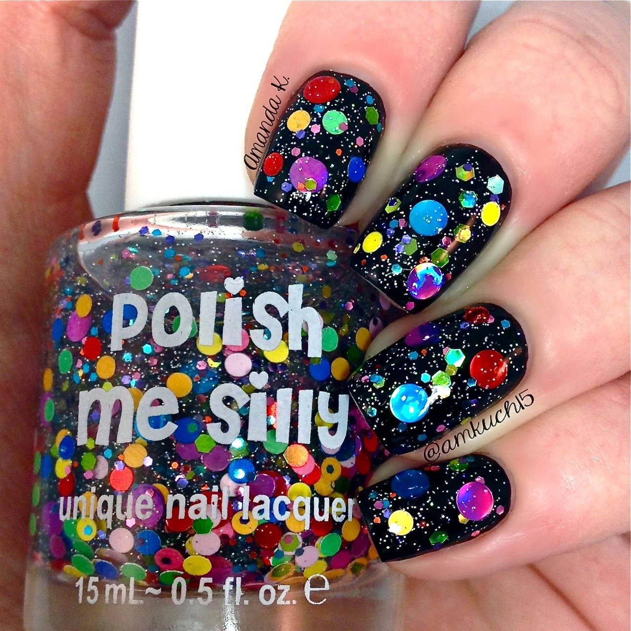 Surprise Me Custom Blended Glitter Nail Polish Indie