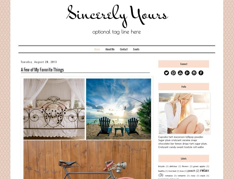 My favorite blog designs for blogspot - The Fashion Rose