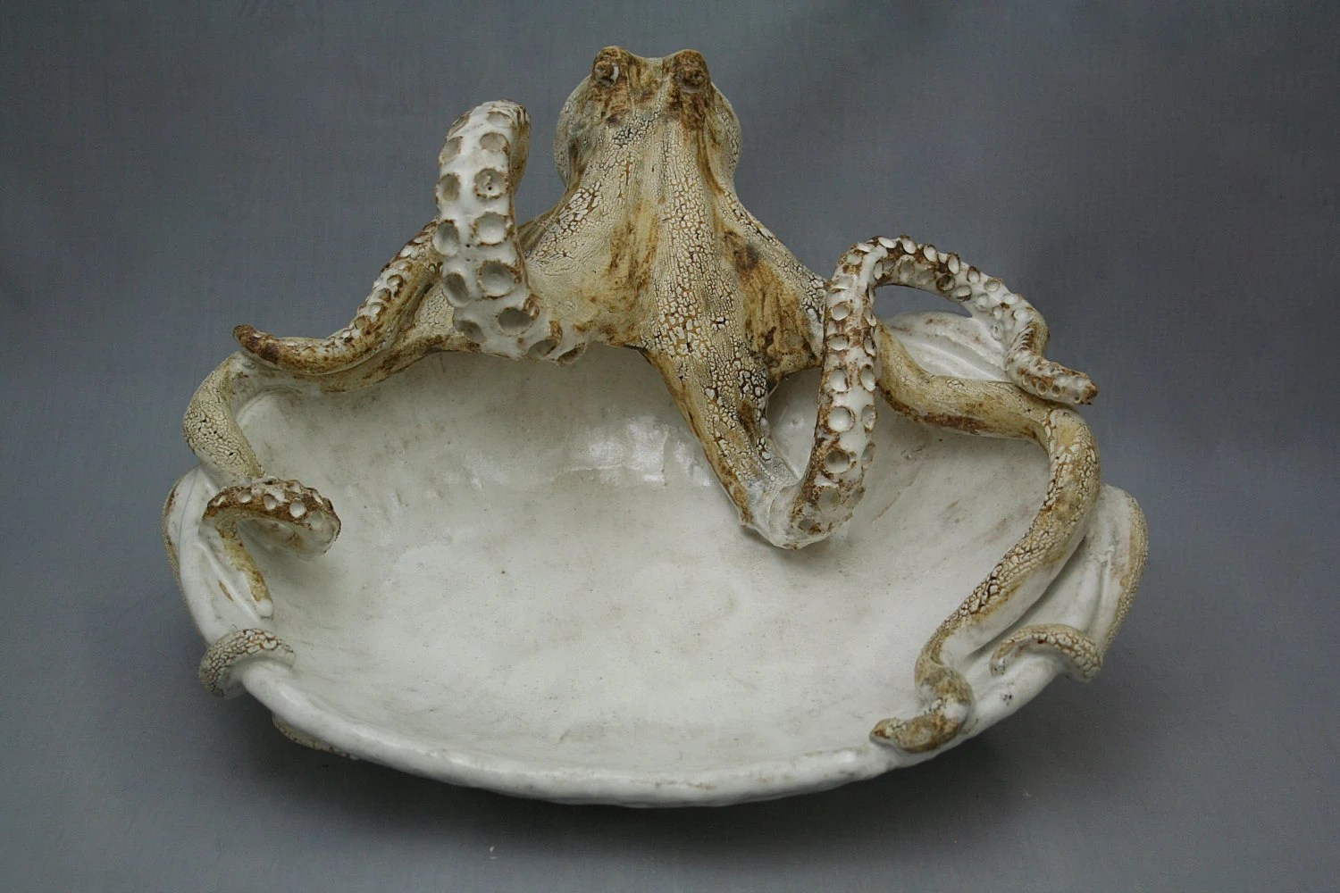Ceramic Octopus Large Ceramic Octopus Platter By Shayne Greco Beautiful