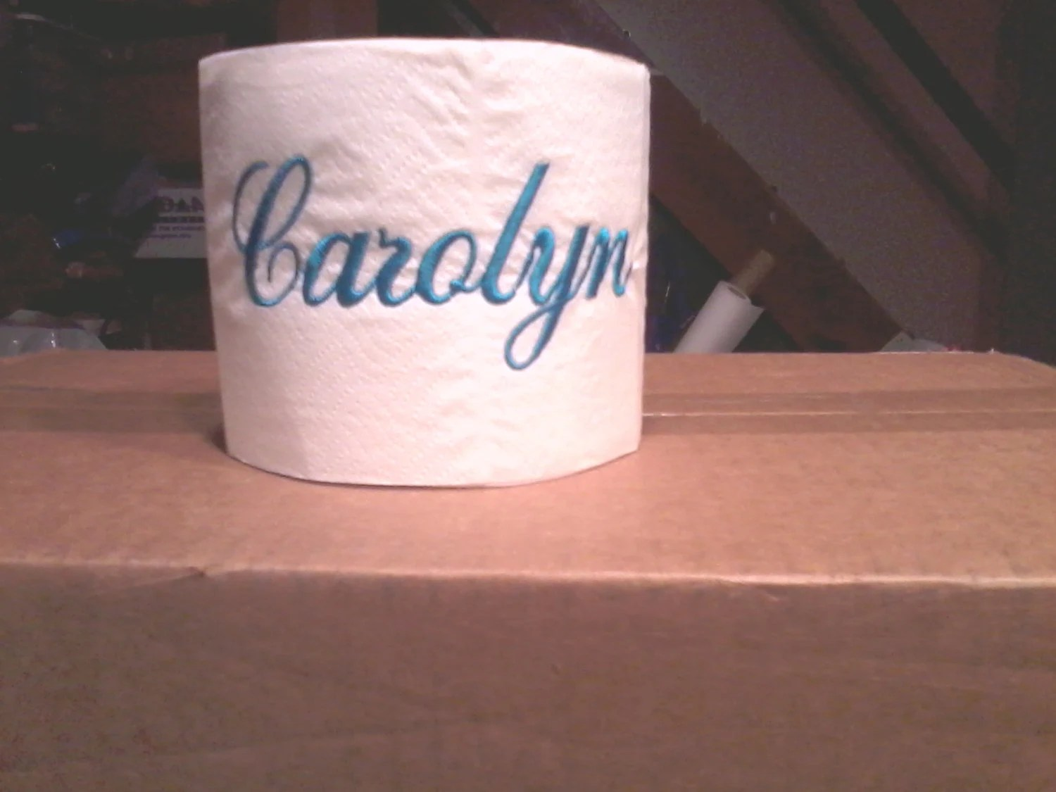 Custom Made Toilet Paper Embroidered Personalized Toilet Paper With Name Or Monogram