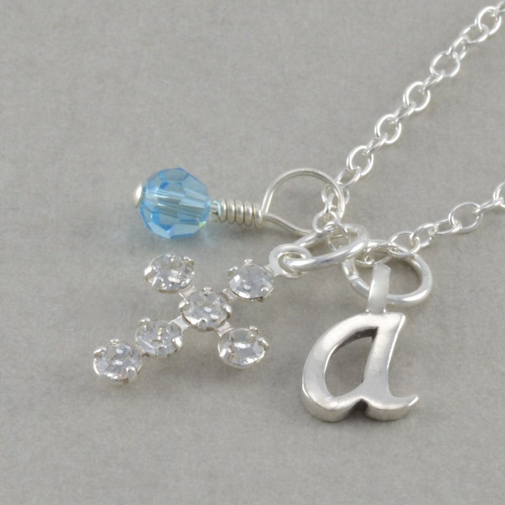 Girls Cross Necklace Sterling Silver Baby By
