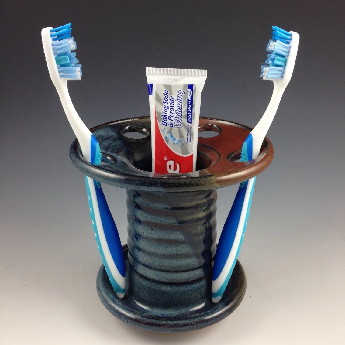 Toothbrush Holder Toothpaste Caddy Handmade Pottery