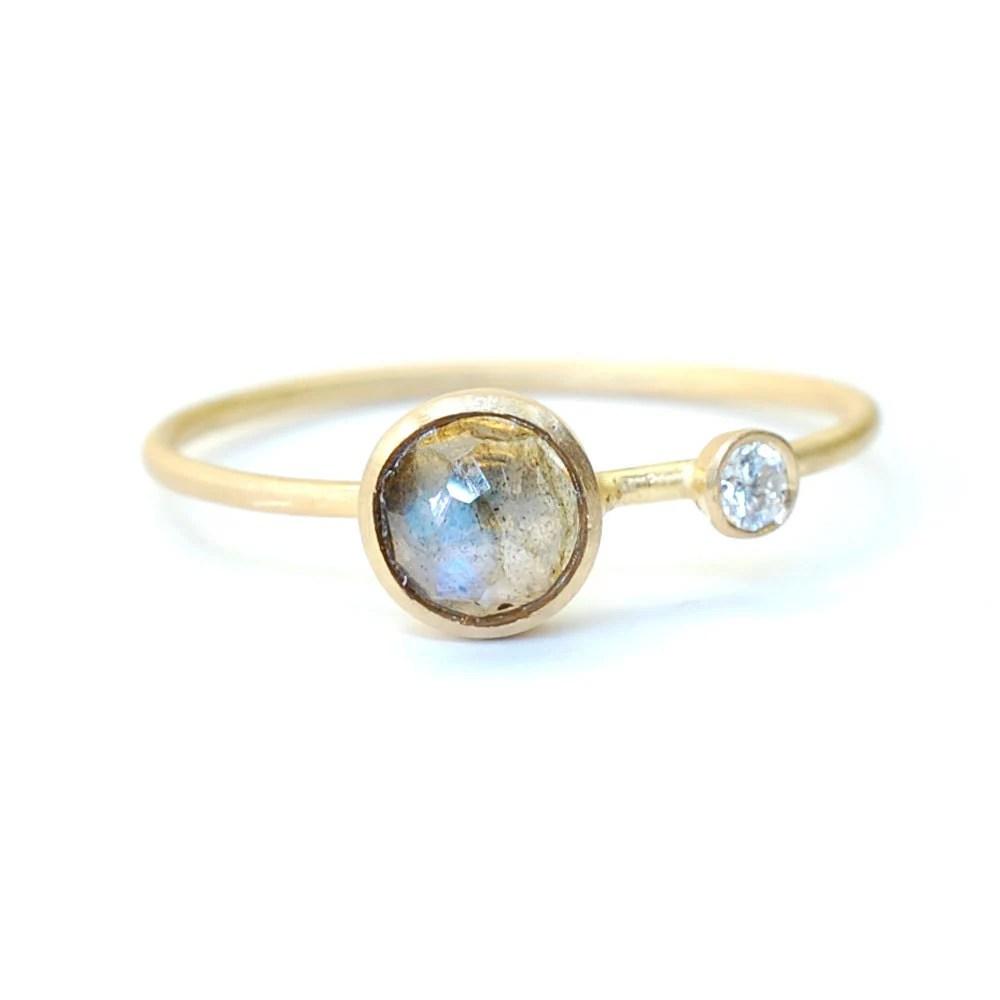 rose cut labradorite ring labradorite labradorite wedding ring zoom