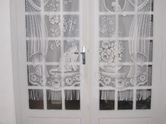 Pocket French Doors Cat Lace Curtains French Lace Curtains French Door Curtains