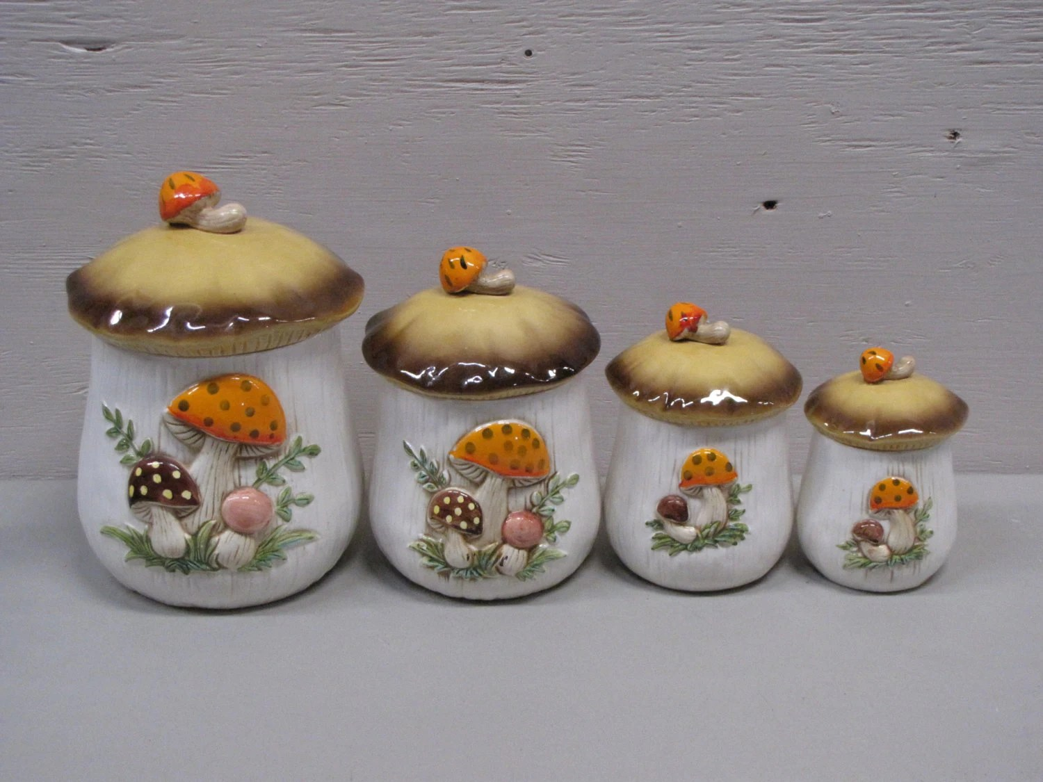 Ceramic Cookie Jar Sets Vintage Ceramic Brown And White Mushroom Cookie Jar Jar Set