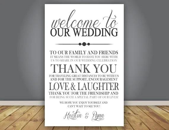 ADD-ON Thank You Note Wedding Program add on Guest Thank