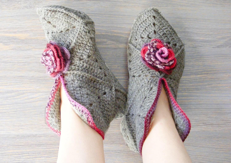 Crochet Granny Square Slipper Pattern Pakbit For