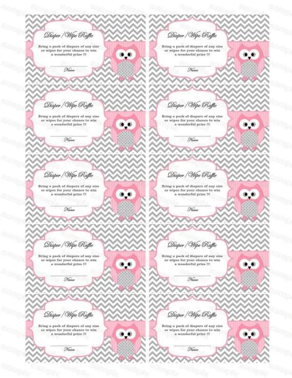 FREE Printable Diaper Raffle Tickets Freebie Finding Mom