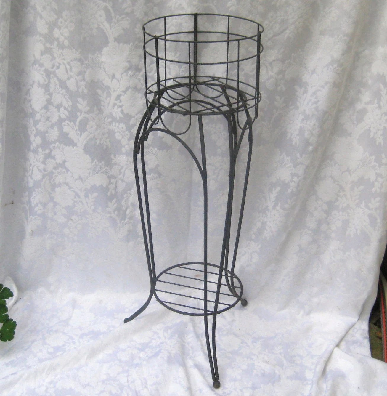 Tall Wrought Iron Plant Stands Wrought Iron Tall Plant Stand Fern Stand Shabby Farmhouse