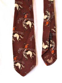 Vintage 1930s Boys Tootal Necktie with Rodeo Print