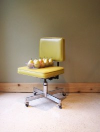 RESERVED Retro Swivel Office Chair-Gold Yellow Dorm-Mid