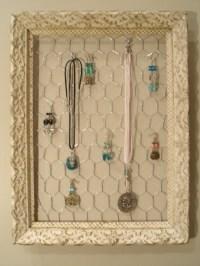 Antique Frame Jewelry Organizer Display Holder