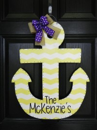 Personalized Wooden Anchor Door Hanger by TylerCatherines ...